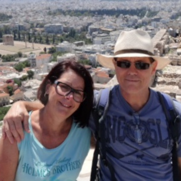David Dyson and Cheryl Travelling